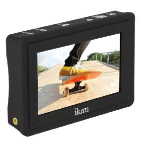 "IKAN VL35 3.5"" 4K Signal Support HDMI On-Camera Field LCD Monitor con Canon LP-E6 Battery Plate"